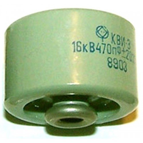 Capacitor KVI-3 470 pF / 16 kV