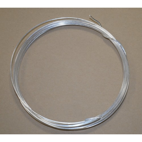 Silvered solid wire - long